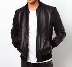 selected baseball leather jacket image 1
