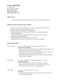 Military Police Resume Resume Cover Letter Template
