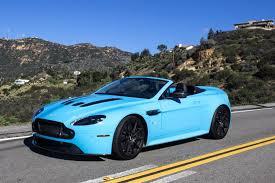 aston martin vanquish 2015 blue. 2015 aston martin v12 vantage roadster despite an aging design and a blazing blue paint job the vanquish
