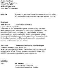 Commercial Loan Officer Resume Sample Http Resumesdesign Com