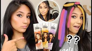 does clairol color crave hair makeup work on dark hair full demo results review
