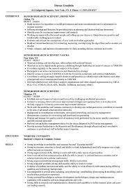 Research Scientist Resume Sample Senior Research Scientist Resume Samples Velvet Jobs 20