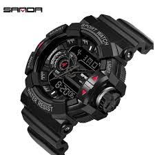 Sanda Brand <b>Men Fashion Sport</b> Military <b>Watch</b> Waterproof Wristwatch
