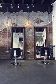 industrial looking furniture. industrial hair salon design chairsu0026mirrors wall style looking furniture