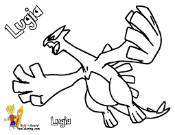 Legendary Pokemon Coloring Pages Lugia
