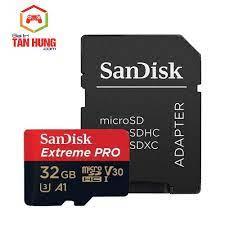 Thẻ nhớ MicroSDXC SanDisk Extreme PRO A1 32G 64GB V30 U3 Class 10 UHS-I  100MB/s Hàng Công Ty