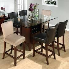 counter table with storage counter height storage dining table rectangle with regard to glass plans 8