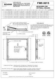 Acudor Access Doors Fwc 5015