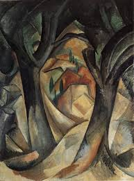 big trees at estaque by french cubist georges braque born 1882 via