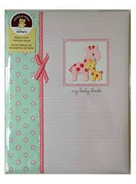 Amazon.com : Carters Baby Memory Book Girls Pink, Album, Record Keeping