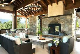 indoor outdoor fireplace double sided wood