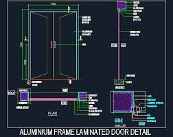 aluminium frame laminated door detail