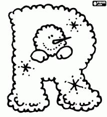 Winter Alfabet Of Kerst Letter R Kleurplaat Scrap Book Christmas