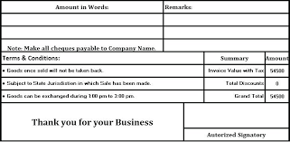 Billing Invoice Template Word Templates Format With Terms And ...