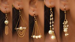 Jewelry Designs Diy 5 Easy Pearl Earring Design Diy 5 Min Craft Hand Made