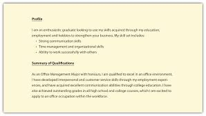 Resume Qualifications Profile Resume For Study