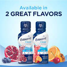 ensure clear nutrition drink 0g fat