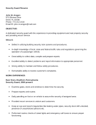 Security Guard Resume Resume Cv Cover Letter