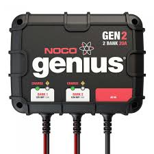 noco 2 bank 20a on board battery charger gen2 gen2 2 bank 20a on board battery charger