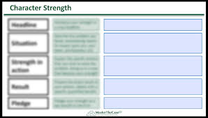 Fit Interview Character Strength Response Template | MasterTheCase