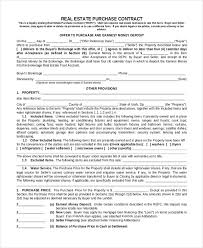 Sample Real Estate Purchase Agreement Form 40 Free Documents In Classy Property Purchase Agreement Template