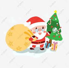 คริสต์มาส ซานตาคลอส ของขวัญวันคริสต์มาส การ์ตูน, ซานตาคลอสสวมแว่นตา, ดาว,  ของขวัญวันคริสต์มาสภาพ PNG และ PSD สำหรับดาวน์โหลดฟรี