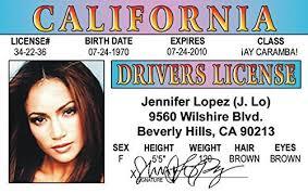 Games Lo Toys com Novelty License Fans Amazon J d The Fake Aka Lopez For Jennifer Planner amp; Of Drivers Wedding I Identification
