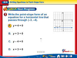 6 write the point slope form