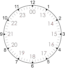 24 Hour Military Time Conversion Chart Military Clock