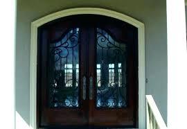 cut double metal front doors to add glass door inserts for glass door inserts for