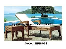 holiday beach lying sofa bed rattan chaise longue lying chair terrace sun lying chair ottoman bed