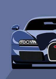 This stunning art deco style poster is designed, illustrated and printed by bill philpot, and shows the profile of the classic bugatti against the stylised horse's head. Bugatti Veyron Poster By Michael Tompsett
