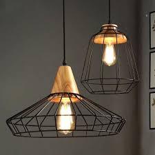 cage pendant lighting. Pendant Cage Light Industrial Loft Black Metal Single Wood Art Lights . Lighting S