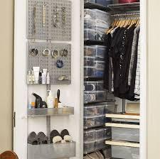 birch elfa décor closet with utility door wall rack