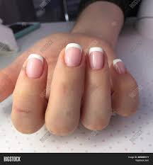 French Gel Nail Designs French Manicure On Image Photo Free Trial Bigstock