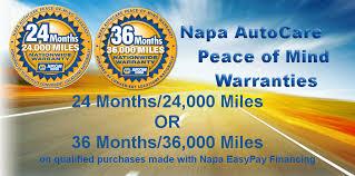 napa auto repair warranty