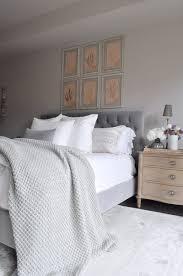 bedroom bed with tufted headboard linen bedding restoration ha