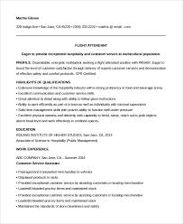 Sample Resume For Flight Attendant With No Experience Best