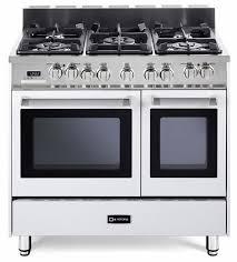 best double oven gas range. VEFSGE365NDW Verona 36\ Best Double Oven Gas Range D