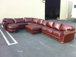 Leather Couch Restoration Large Leather Sectional Color And Restoration Encore Leather