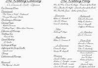 Catholic Wedding Mass Program Catholic Wedding Mass Outline Mini Bridal For Wedding Ceremony