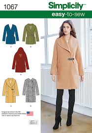 Coat Sewing Patterns Beauteous Simplicity 48 Misses' EasyToSew Jacket Or Coat