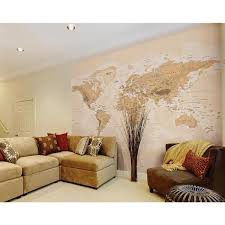 brewster sepia world wall mural