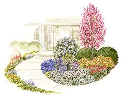 Small Picture Colorful Front Yard Garden Plans Garden planning Front doors