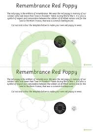 poppy template remembrance day poppy template