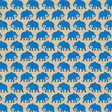 Patterned Unique Printed Patterned Tissue Wrapping Paper Elephants Blue Luxury 48