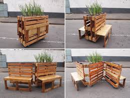 reclaimed wood pallet bench. Reclaimed Wood Pallet Storage Bench
