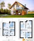 Проект небольшого дома с мансардой фото
