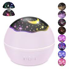 Baby Girl Night Light Projector Baby Night Lights For Kids Star Night Light Projector Multiple Colors Rotating Projector For Boys And Girls Pink