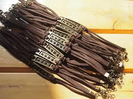 brown leather bracelet for men whole